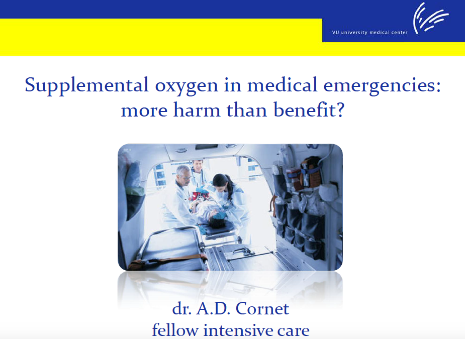 Oxygen in medical emergencies